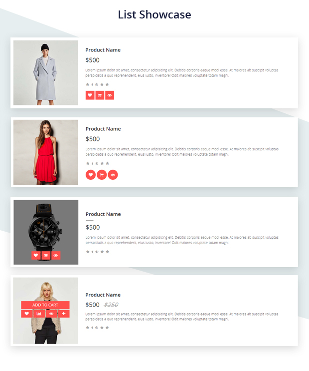 Demo Ecommerce Grid is a Multipurpose Product Showcase HTML Widget