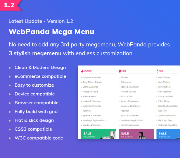WebPanda Update Version 1.2