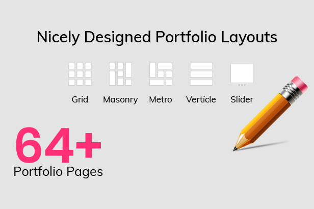 WebPanda Provides Creative, Grid, Masonry, Metro, Justified, Carousel Portfolio Package